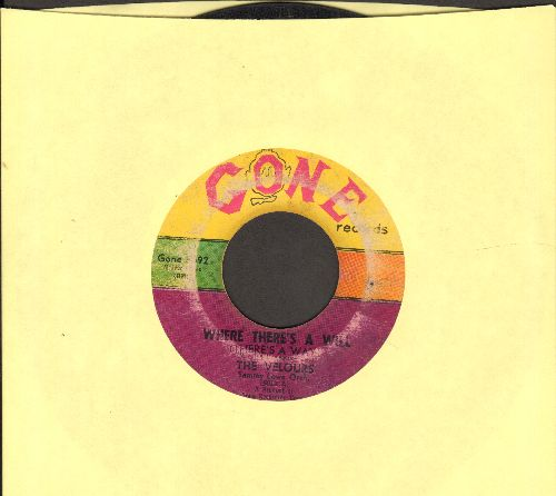 Velours - Where There's A Will/Can I Come Over Tonight - VG6/ - 45 rpm Records