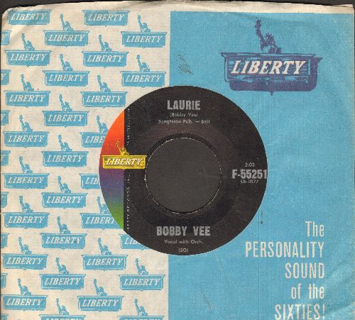 Vee, Bobby - Laurie/One Last Kiss (with vintage Liberty company sleeve) - EX8/ - 45 rpm Records