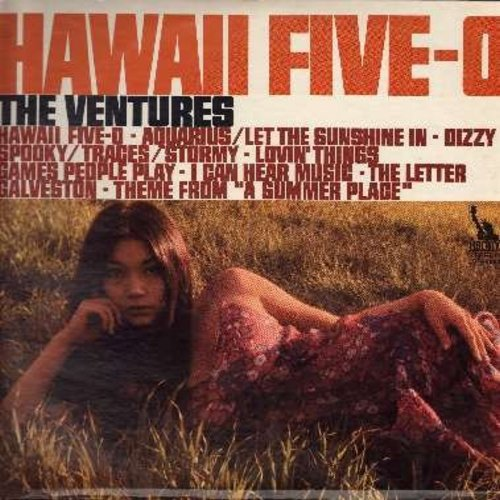 Ventures - Hawaii Five-O: Dizzy, Theme From A Summer Place, Aquarius/Let The Sunshine In, The Letter (vinyl STEREO LP record, NICE condition!) - M10/EX8 - LP Records