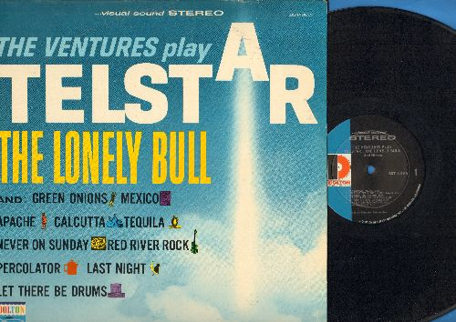 Ventures - Telstar: The Lonely Bull, Green Onions, Apache, Calcutta, Tequila, Never On Sunday, Perculator, Let There Be Drums (vinyl STEREO LP record) - NM9/EX8 - LP Records