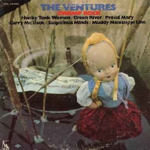 Ventures - Swamp Rock: Proud Mary, Suspicious Minds, Honky Tonk Woman, Jampalaya, Green River (vinyl STEREO LP record) (sol) - NM9/VG7 - LP Records