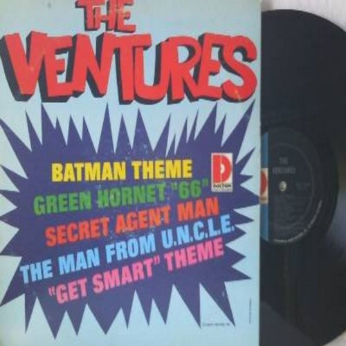 Ventures - The Ventures: Bat Man Theme, Green Hornet '66, Secret Agent Man, Get Smart Theme, Man From U.N.C.L.E. (vinyl MONO LP record) - VG7/VG7 - LP Records