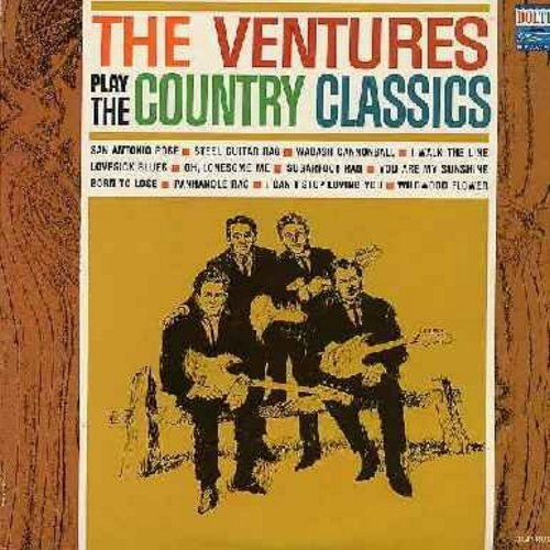 Ventures - Country Classics: San Antonio Rose, I Walk The Line, You Are My Sunshine, Born To Lose, I Can't Stop Loving You (vinyl MONO LP record) - EX8/EX8 - LP Records