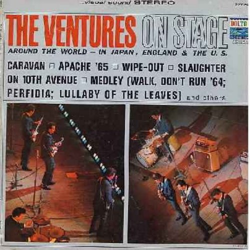 Ventures - On Stage: Apache '65, Wipe-Out, Slaughter On 10th Avenue, Bumble Bee, Yellow Jacket (vinyl STEREO LP record) - EX8/VG7 - LP Records