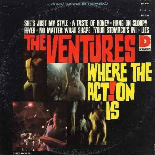 Ventures - Where The Action Is: Hang On Sloopy, No Matter What Shape (Your Stomach's In), Fever, She's Just My Style, Action - EX8/EX8 - LP Records