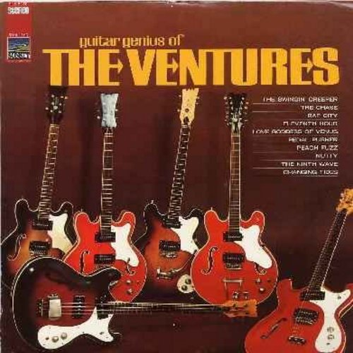 Ventures - Guitar Genius Of The Ventures: The Swinging Creeper, Nutty, Peach Fuzz, Pedal Pusher, The Nith Wave, Changing Tides (vinyl STEREO LP record) - NM9/VG7 - LP Records