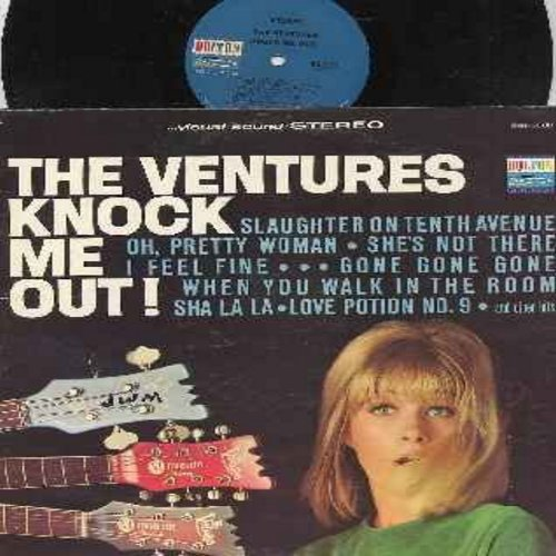 Ventures - Knock Me Out!: Slaughter On Tenth Avenue, Oh Pretty Woman, I Feel Fine, Love Potion No. 9, She's Not There (vinyl STEREO LP record) - EX8/VG7 - LP Records