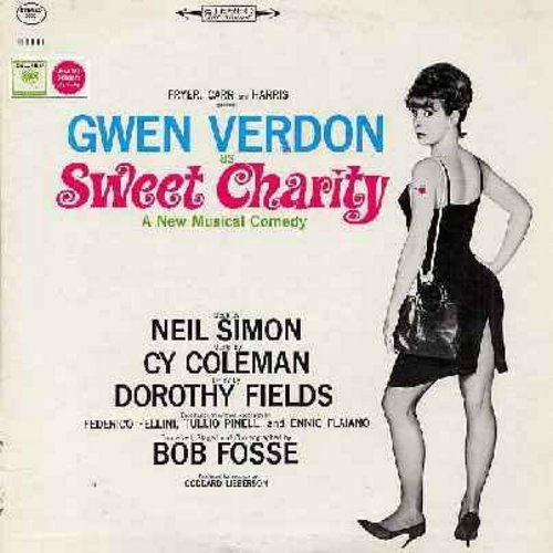 Verdon, Gwen - Sweet Charity - Original Broadway Cast starring Gwen Verdon, John McMartin, Ruth Buzzi and Helen Gallagher (vinyl STEREO LP record) - NM9/EX8 - LP Records
