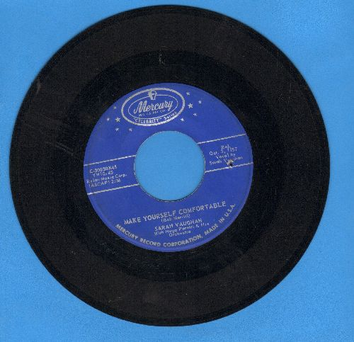 Vaughan, Sarah - Make Yourself Comfortable/Whatever Lola Wants (early double-hit re-issue, bb) - EX8/ - 45 rpm Records