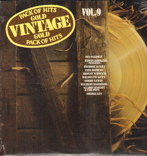 Del-Vikings, Bobby Lewis, Wilson Pickett, others - Vintage Gold Vol. 9: Whispering Bells, Oh Happy Day, Will You Love Me Tomorrow? (vinyl LP record, re-issue of vintage recordings, SEALED, never opened!) - SEALED/SEALED - LP Records