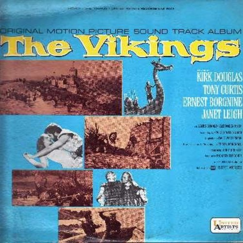 Vikings, The - The Vikings - Music from the Soundtrack of the 1960 film starring Kirk Douglas, Tony Curtis and Janet Leigh, score composed by Mario Nascimbene (vinyl STEREO LP record) - NM9/EX8 - LP Records