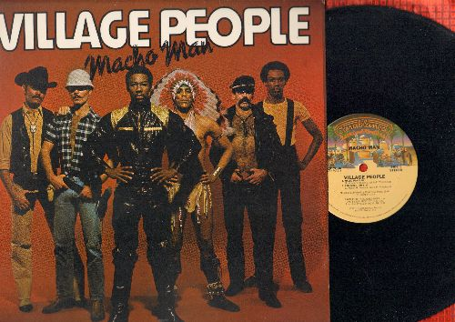 Village People - Macho Man (5:18 extended version)/I Am What I Am (5:37 extended version)/Key West (5:42 extended version), Medley: Just A Gigolo/Ain't Got Nobody, Sodom And Gomorrah (6:17 extended version) (12 inch vinyl maxi single) - NM9/EX8 - Maxi Sin
