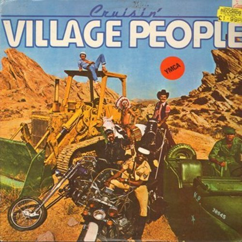 Village People - Cruisin: (Portugal) Y.M.C.A., Hot Cop, My Roomate, Ups And Downs, The Women/I'm A Cruiser (vinyl LP record featuring extended Disco Versions of hit songs - Dance Club Favorite! - Portuguese Pressing) - M10/EX8 - LP Records