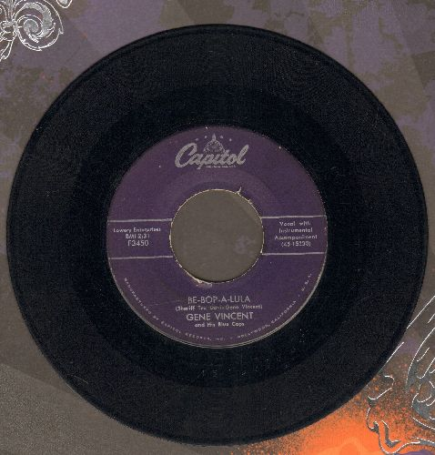 Vincent, Gene - Be-Bop-A-Lula/Woman Love (purple label first pressing) - VG6/ - 45 rpm Records