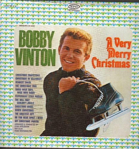 Vinton, Bobby - A Very Merry Christmas: Christmas Chopsticks, Dearest Santa, White Christmas, Christmas Angel, Do You Hear What I Hear? (vinyl LP record, blue label) - NM9/NM9 - LP Records