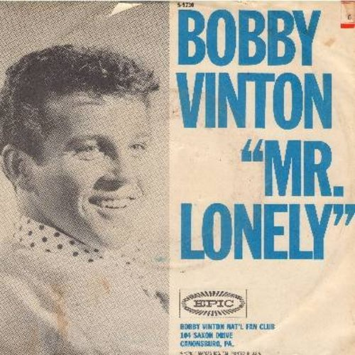 Vinton, Bobby - Mr. Lonely/It's Better To Have Loved (with picture sleeve) - NM9/VG7 - 45 rpm Records