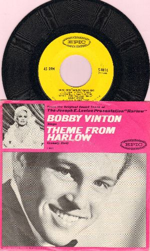 Vinton, Bobby - Theme From -Harlow- (Lonely Girl)/If I Should Lose Your Love (MINT condition with RARE picture sleeve) - M10/NM9 - 45 rpm Records