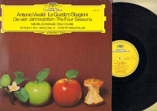 Berliner Phiharmoniker, Herbert von Karajan - Antonio Vivaldi - Le Quattro Stagioni - Die vier Jahreszeiten - The Four Seasons (vinyl STEREO LP record, German Pressing) - NM9/EX8 - LP Records