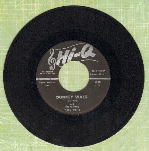 Valla, Tony & The Alamos - Donkey Walk/Pork Chops - VG7/ - 45 rpm Records