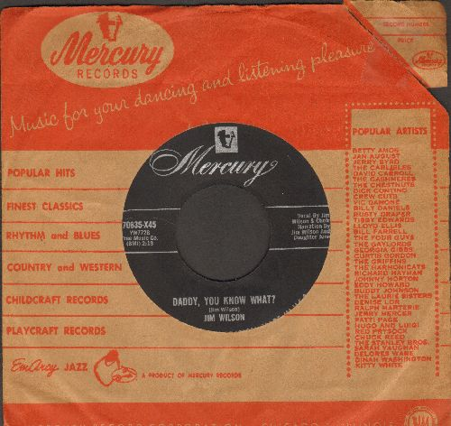 Wilson, Jim - Daddy, You Know What?/Plans For Divorce (with vintage Mercury company sleeve) - VG7/ - 45 rpm Records