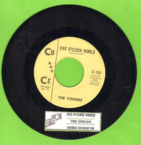 Vogues - Five O'Clock World (as featured on -The Drew Carey Show- in 2nd Season Theme)/Nothing To Offer You (bb) - VG7/ - 45 rpm Records