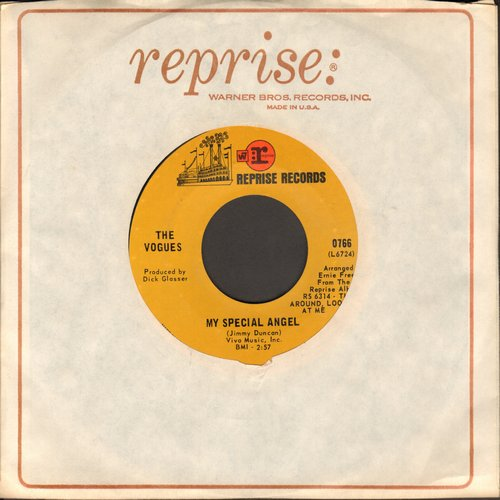 Vogues - My Special Angel/I Keep It Hid (with Reprise company sleeve) - NM9/ - 45 rpm Records