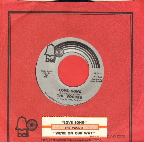 Vogues - Love Song/We're On Our Way (MINT condition with Bell company sleeve and juke box label) - NM9/ - 45 rpm Records
