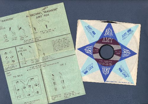 Brown, Al Tunetoppers Featuring Cookie Brown - The Madison/Mo' Madison (NICE condition, with company sleeve and BONUS Madison Dance Instruction Sheet!) - NM9/ - 45 rpm Records