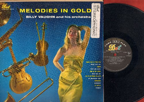 Vaughn, Billy & His Orchestra & Chorus - Melodies Of Gold: Night And Day, Smoke Gets In Your Eyes, I'm In The Mood For Love, Dream, Indian Love Call (vinyl LP record, STEREOPHONIC) - EX8/VG7 - LP Records