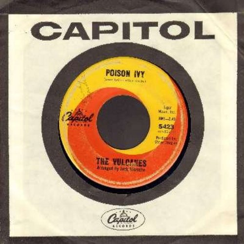 Vulcanes - Poison Ivy/My Heart Won't Believe It (with vintage Capitol company sleeve) - VG6/ - 45 rpm Records