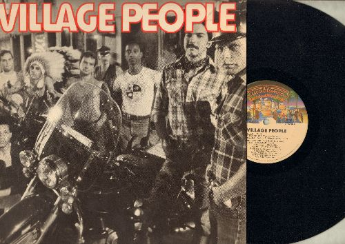 Village People - Village People: In Hollywood (Everybody Is A Star), San Francisco (You've Got Me), Fire Island, Village People (features extended Disco Versions of hits - Dance Club Favorite! - with BONUS Giant fold-out POSTER!) - NM9/EX8 - LP Records