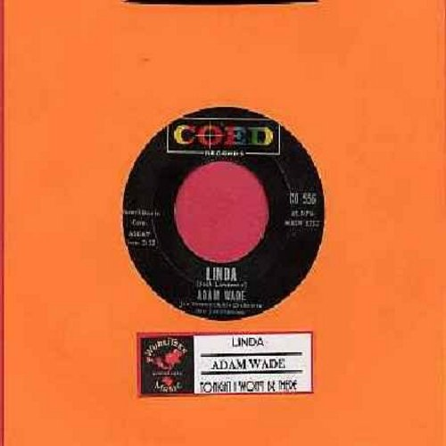 Wade, Adam - Linda/Tonight I Won't Be There (with juke box label) - NM9/ - 45 rpm Records