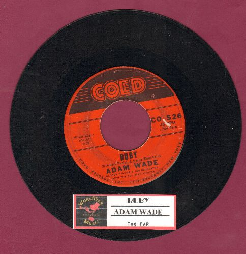 Wade, Adam - Ruby/Too Far - VG7/ - 45 rpm Records