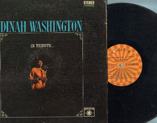 Washington, Dinah - In Tribute…: That Sunday (That Summer), Something's Got To Give, Call Me Irresponsible, The Good Life (vinyl MONO LP record) - EX8/VG7 - LP Records