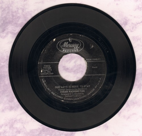 Washington, Dinah - Our Love Is Here To Stay/Congratulations To Someone  - EX8/ - 45 rpm Records