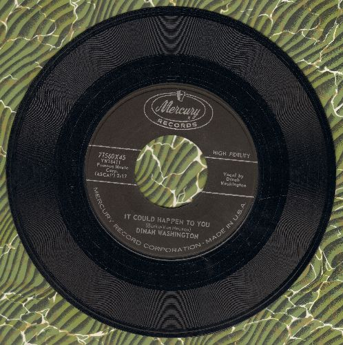 Washington, Dinah - It Could Happen To You/The Age Of Miracles - EX8/ - 45 rpm Records