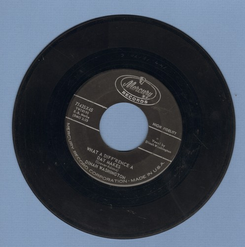 Washington, Dinah - What A Difference A Day Makes/Come On Home  - EX8/ - 45 rpm Records