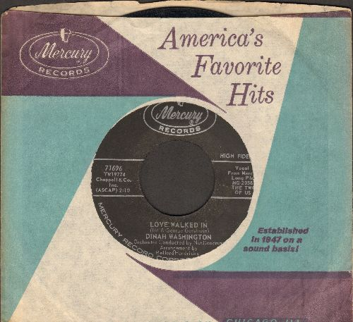 Washington, Dinah - Love Walked In/I'm In Heaven Tonight (with Mercury company sleeve) - NM9/ - 45 rpm Records