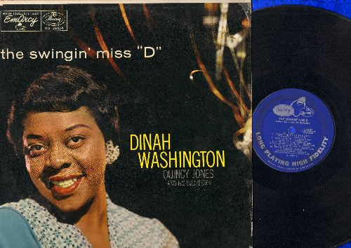 Washington, Dinah - The Swingin' Miss D: Makin' Whoopie, But Not For Me, Perdido, Never Let Me Go, Is You Is Or Is You Ain't My Baby (1970s issue of 1956 recordings) - VG7/VG7 - LP Records