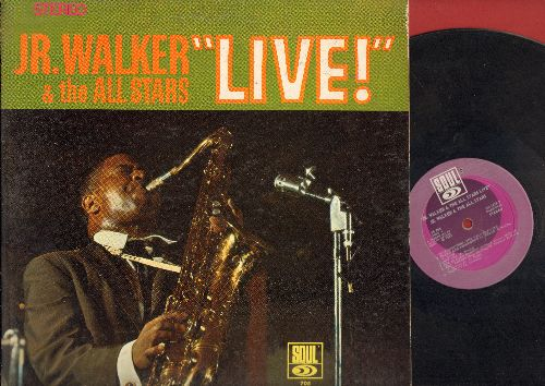 Walker, Jr. & The All Stars - LIVE!: (I'm A) Road Runner, How Sweet It Is (To Be Loved By You), Shotgun, Shake And Fingerpop (vinyl STEREO LP record) - VG7/VG6 - LP Records