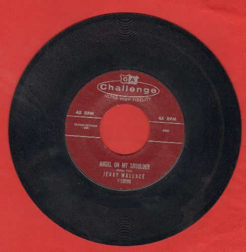 Wallace, Jerry - Angel On My Shoulder/There She Goes  - EX8/ - 45 rpm Records