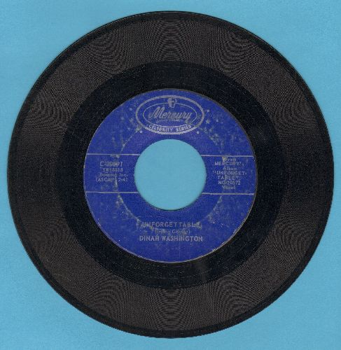 Washington, Dinah - Unforgettable/Love Walked In (double-hit re-issue) - VG7/ - 45 rpm Records