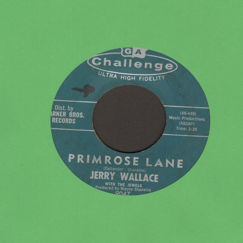 Wallace, Jerry - Primrose Lane/By Your Side  - VG7/ - 45 rpm Records