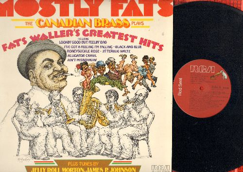 Canadian Brass - Mostly Fats - Fats Waller's Greatest Hits + Tunes by Jelly Roll Morton & Others (vinyl STEREO LP record, Red Seal pressing) - NM9/EX8 - LP Records