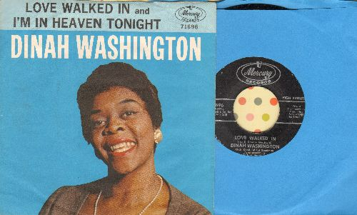 Washington, Dinah - Love Walked In/I'm In Heaven Tonight (with picture sleeve) - NM9/EX8 - 45 rpm Records