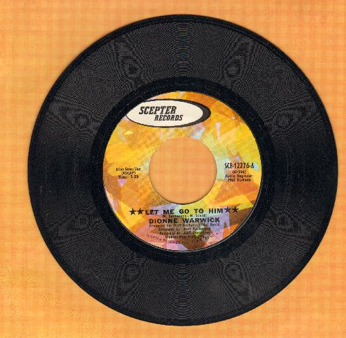 Warwick, Dionne - Let Me Go To Him/Loneliness Remembers What Hapiness Forgets - M10/ - 45 rpm Records