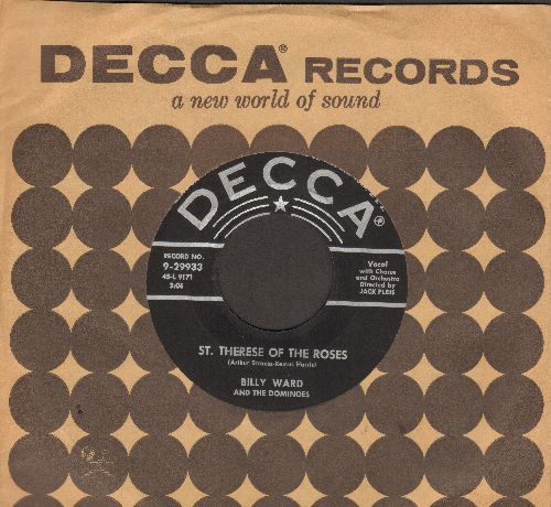 Ward, Billy & The Dominoes - St. Therese Of The Roses (vocals by Jackie Wilson)/Home Is Where You Hang Your Heart (with juke box label) - EX8/ - 45 rpm Records