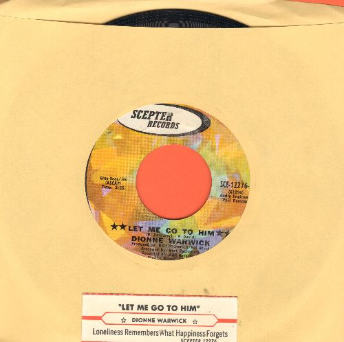 Warwick, Dionne - Let Me Go To Him/Loneliness Remembers What Hapiness Forgets (with juke box label) - NM9/ - 45 rpm Records