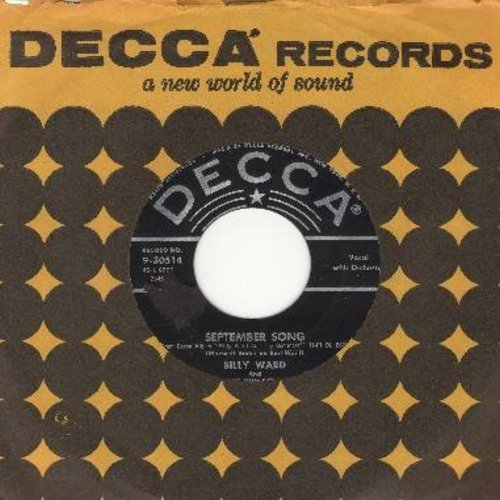 Ward, Billy & The Dominoes - September Song/When The Saints Go marching In (with vintage Decca company sleeve) - EX8/ - 45 rpm Records