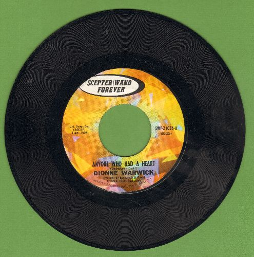 Warwick, Dionne - Anyone Who Had A Heart/The Love Of A Boy (early double-hit re-issue) - EX8/ - 45 rpm Records